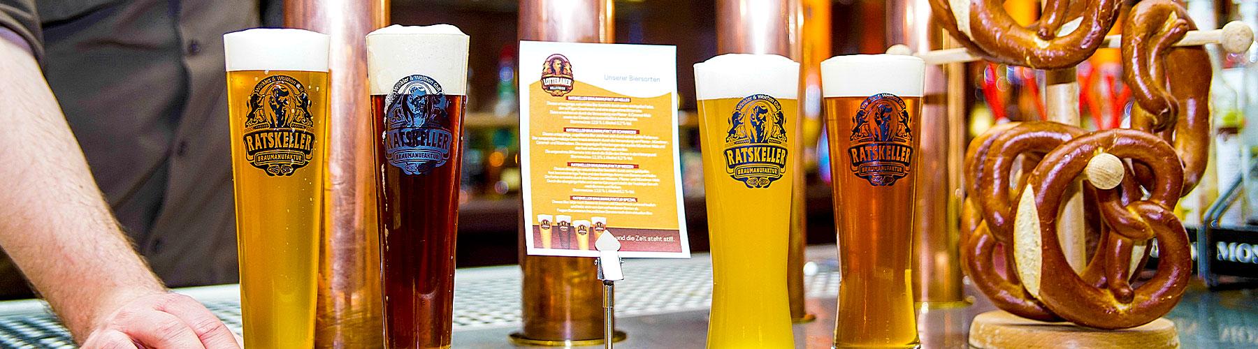 verschiedene Lotteraner Biere